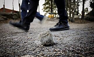 BLE ANGREPET: To ganger de siste månedene har natteravnerne på Vestli blitt kastet stein på av ungdommer. Politiet er bekymret for utviklingen. Foto: Nina Hansen / Dagbladet