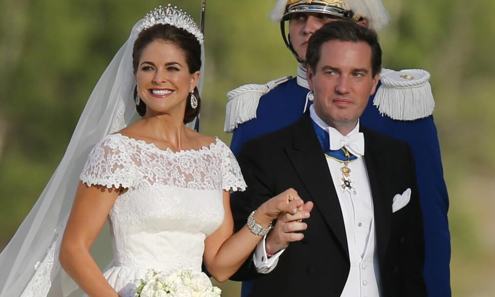 DRAMA I KULISSENE: Den 8. juni 2013 giftet prinsesse Madeleine seg med Christopher O'Neill i Stockholm. Nå viser det seg at ikke alt gikk knirkefritt for seg på parets store dag. Foto: NTB Scanpix.