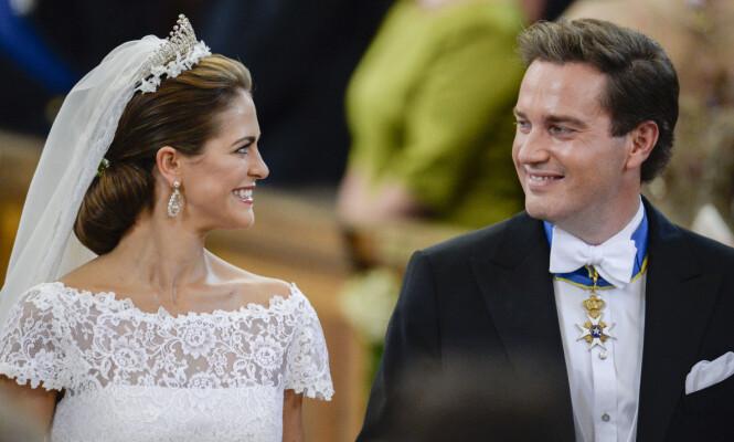 GIFT: Madeleine og Chris giftet seg i 2013. I dag er de trebarnsforeldre. Foto: Lise Åserud / NTB scanpix