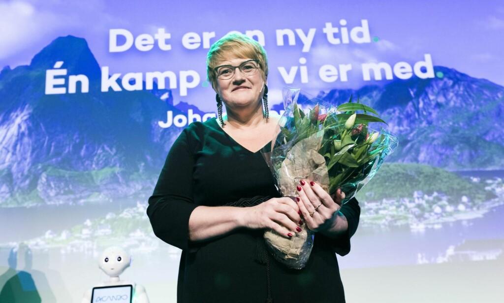 INSPIRASJON: Venstre-leder og kulturminister Trine Skei Grande bør se til Danmark for inspirasjon når hun skal skape et forlik om mediepolitikken. Foto: NTB Scanpix