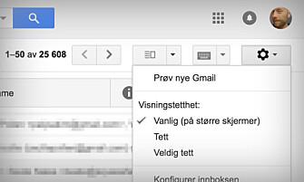 <strong>NY VERSJON:</strong> Trykk på «Prøv nye Gmail» for å få den nye versjonen med en gang. Skjermbilde: Pål Joakim Pollen