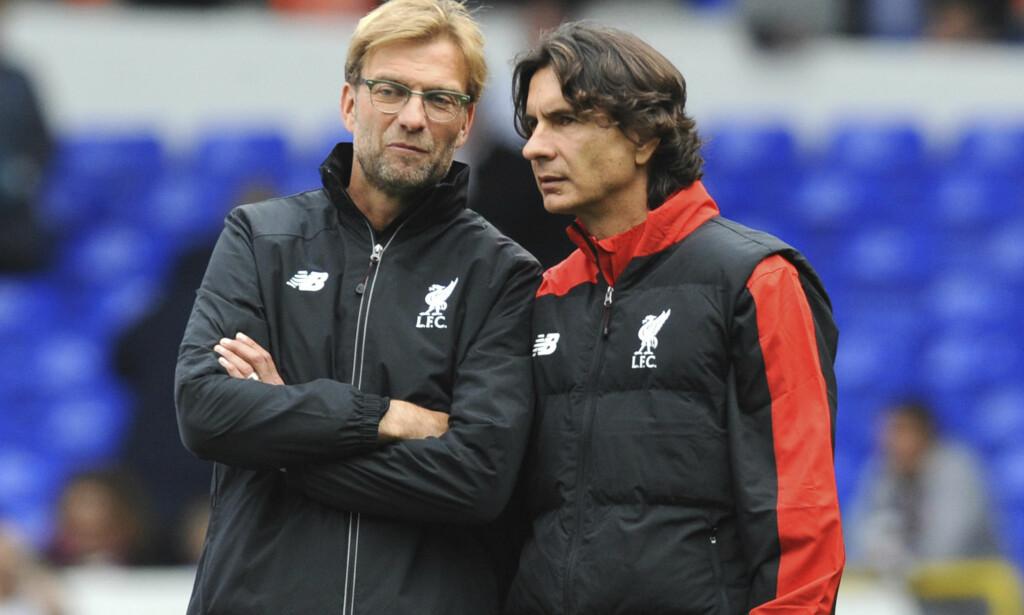 TØFFE TRENINGER: Liverpool-spillerne fikk kjørt seg av Jürgen Klopp og Zeljko Buvac. Foto: AP Photo/Rui Vieira/NTB Scanpix