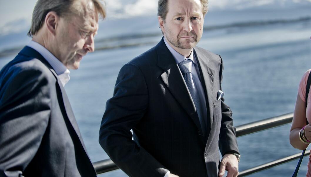 IKKE MER FISK: Nå er det nok fisk for Kjell Inge Røkke (60). Foto: NTB scanpix