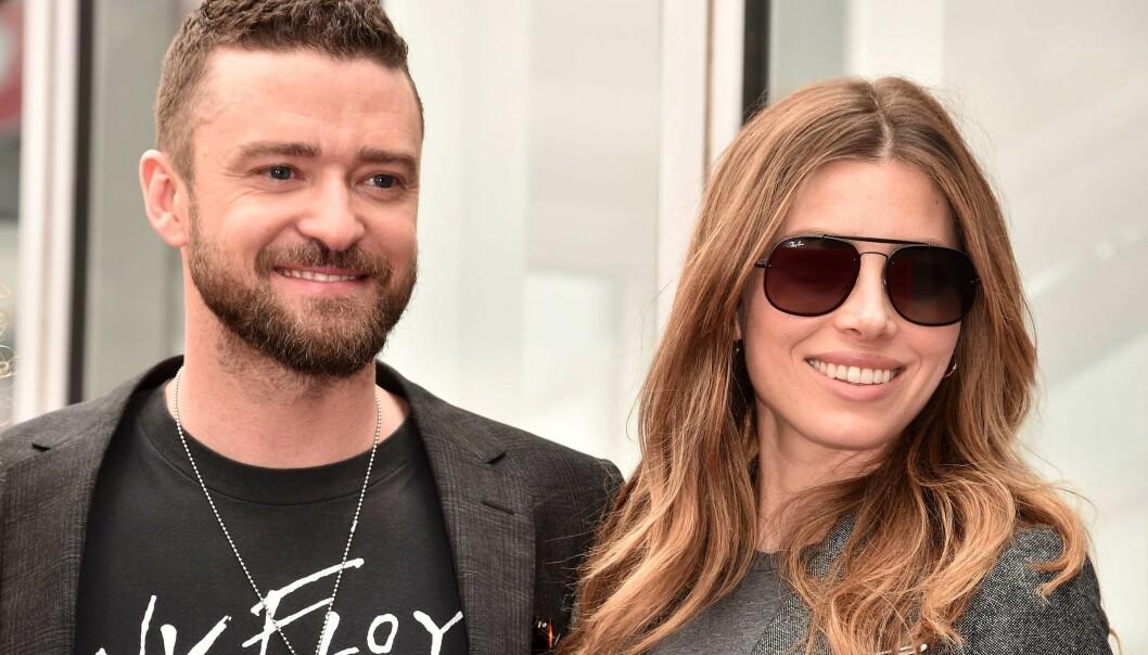 GODT GIFT: Siden 2007 har Justin Timberlake vært kjæreste med skuespiller-kollega Jessica Biel. De har også en sønn sammen. Foto: NTB Scanpix