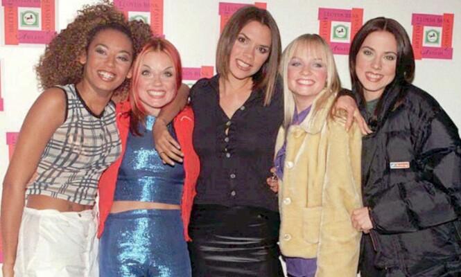 ENORMT POPULÆRE: Spice Girls ble stjerner over natten og tjente seg søkkrike på suksessen. Bildet er fra 1996. Foto: NTB Scanpix.