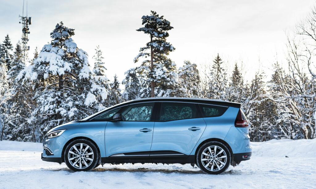 RENAULT GRAND SCENIC: Dinside har ikke mye å utsette på Renaults flerbruksbil, Grand Scenic. Foto: Jamieson Pothecary