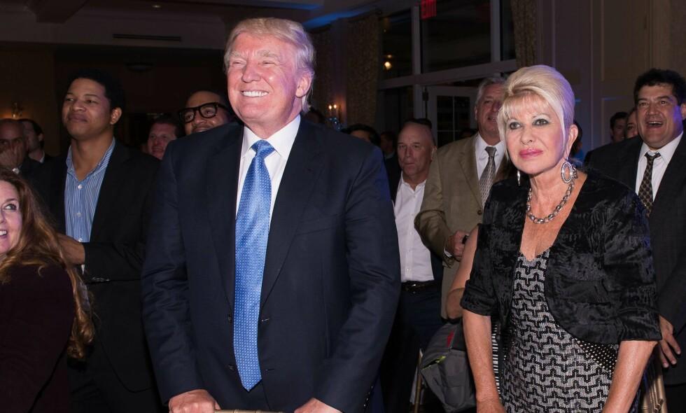 BER EKSMANNEN TENKE SEG OM: I et nytt intervju kommer Donald Trumps første kone, Ivana Trump, med noen tydelige råd til den amerikanske presidenten - som han trolig ikke vil høre på. Her er de sammen på et arrangemet i 2014. Foto: NTB Scanpix