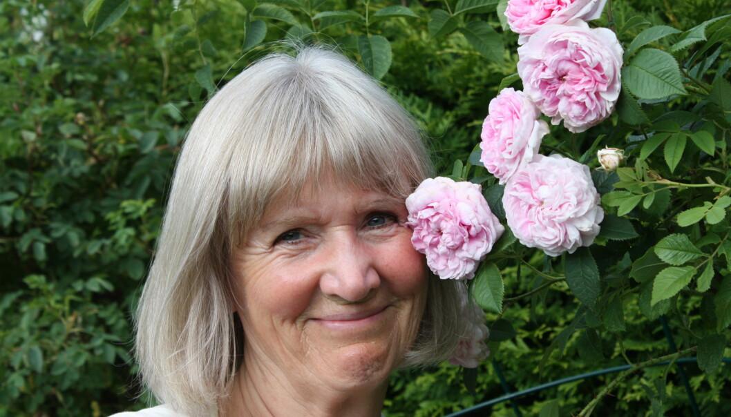 - Farger, dufter, blomster, bær, frø og jord har sterk innvirkning på oss, sier psykolog og advokat Grethe Nordhelle. Foto: Ellen Valheim