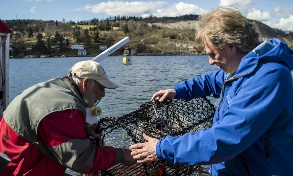 I NORGE: Sig Hansen besøkte nylig Norge i forbindelse med at han nå lanserer krabbeagn av restråvarer. Her i Drøbak. Foto: Ørjan Ryland / Dagbladet