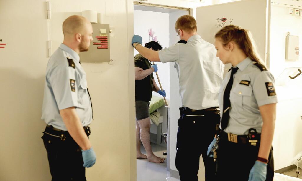 AVDELING G PÅ ILA: I sikkerhetsavdelingen i kjelleren på Ila - avdeling G - sitter det alvorlig syke fanger. Foto: Jacques Hvistendahl / Dagbladet