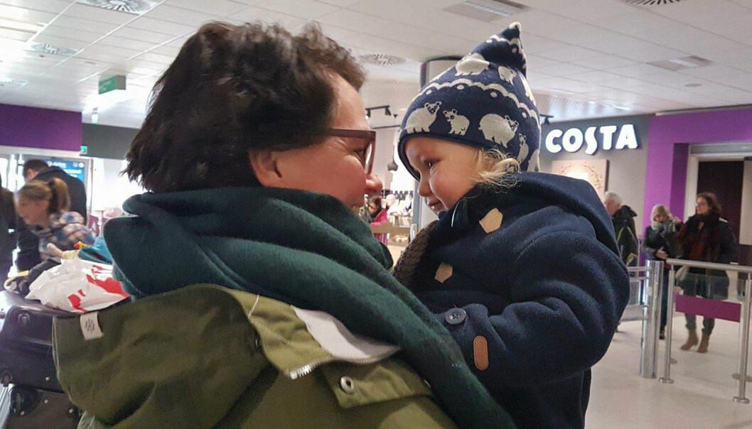 <strong>TRYGT:</strong> Gerd håper at barnebarna alltid vil føle seg trygge på at de kan komme til henne for å snakke når de trenger det. Foto: Privat.