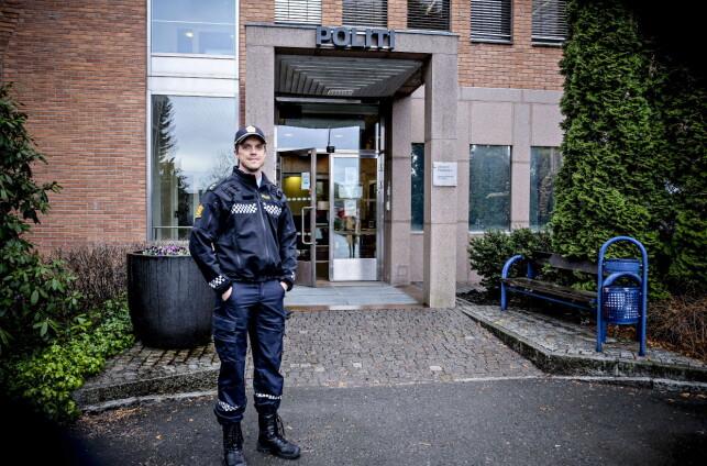 KRITISK: Politibetjent Kai-Arne Kjøbli i Øst politidistrikts forebyggende enhet. Foto : Rønnaug Jarlsbo