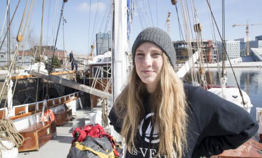 Malín Jacob, fra Hold Norge Rent leder seilasen med S/S Vega som skal farte Norge rundt og rydde i søppel Foto: Terje Pedersen / NTB scanpix