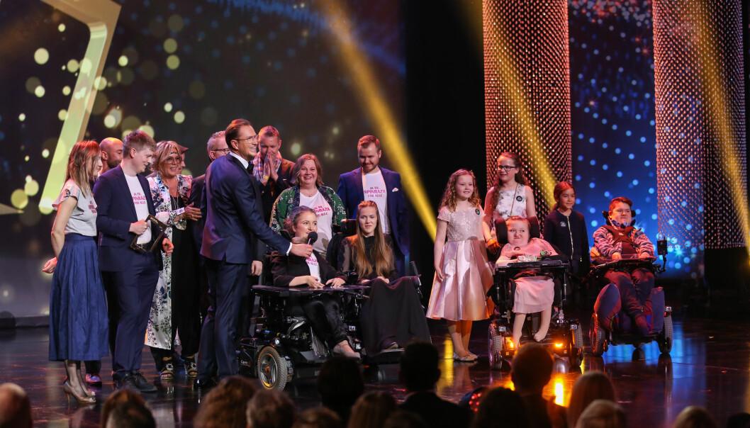 <strong>VANT PRIS:</strong> TV 2-serien «Søsken» vant prisen i kategorien «beste dokumentarserie». Foto: Espen Solli/ TV 2