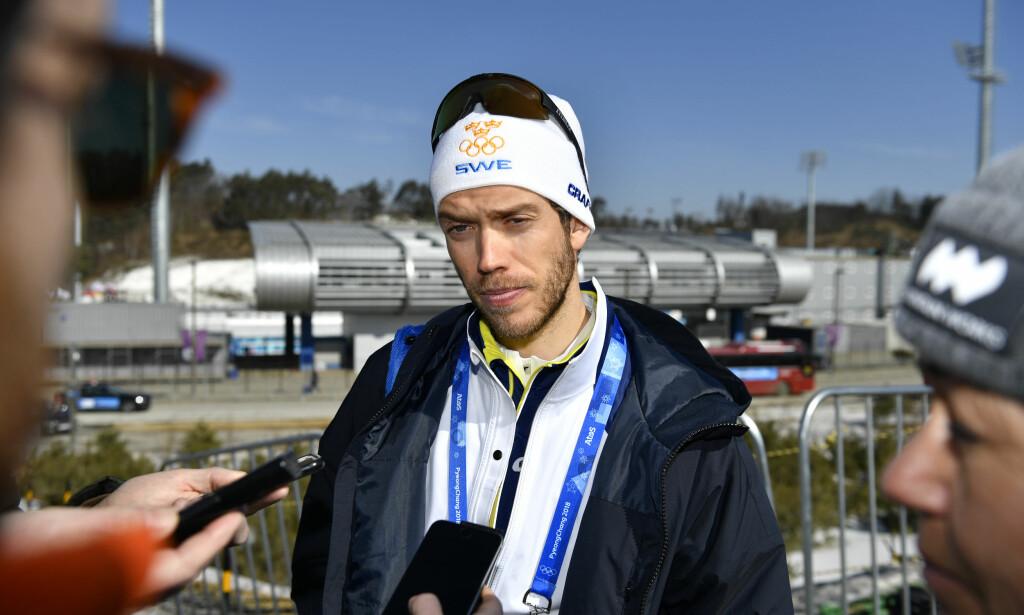 LA OPP: Marcus Hellner har ingen planer om å gjøre comeback i skisporet. Foto: Anders Wiklund / TT / NTB Scanpix