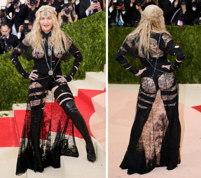 MADONNA: 2016-kjolen til Madonna er signert Givenchy. Foto: Scanpix
