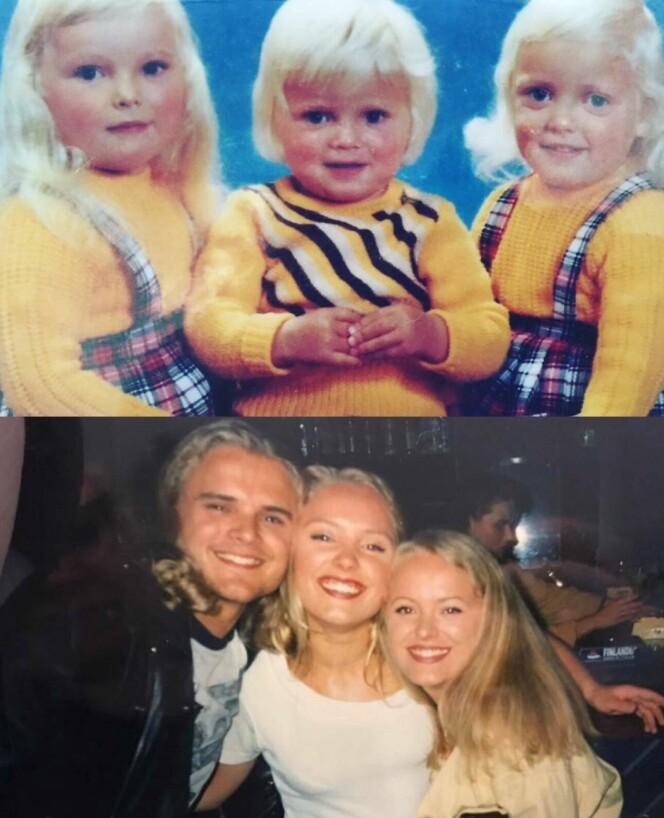 TREKLØVERET: Søsknene var bestevenner. Da broren til Ruth og Alice døde, eskalerte rusavhengigheten til Alice. FOTO: Privat