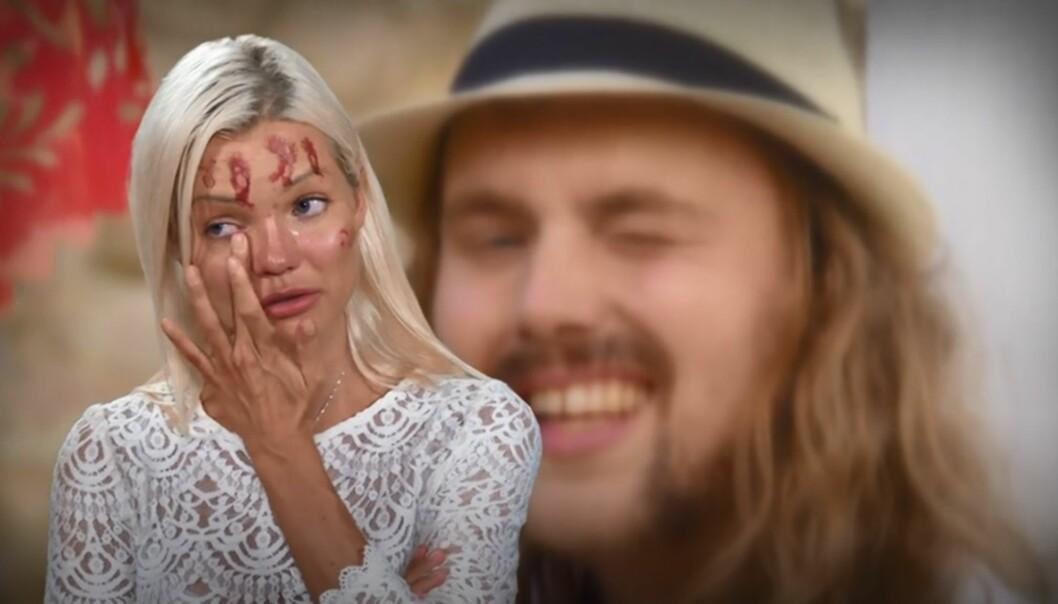 TÅREVÅTT: Det ble følsomt for Ann Marielle Lipinska da hun brått måtte sjekke ut av hotellet i kveldens episode. Foto: TV3