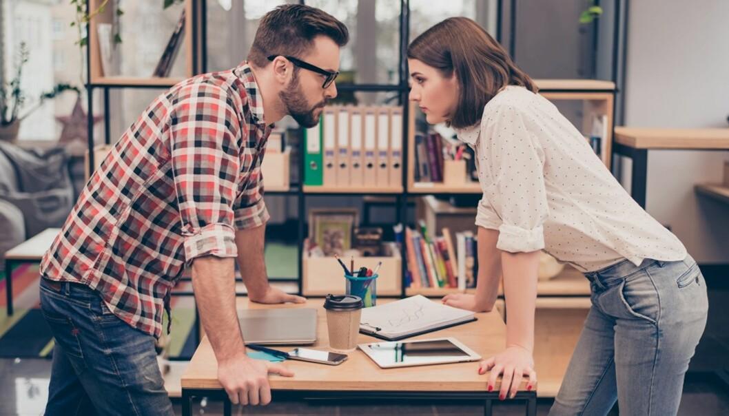 <strong>KONFLIKT:</strong> Krangling på jobb bunner ofte i noe helt annet enn selve jobben. FOTO: Shutterstock