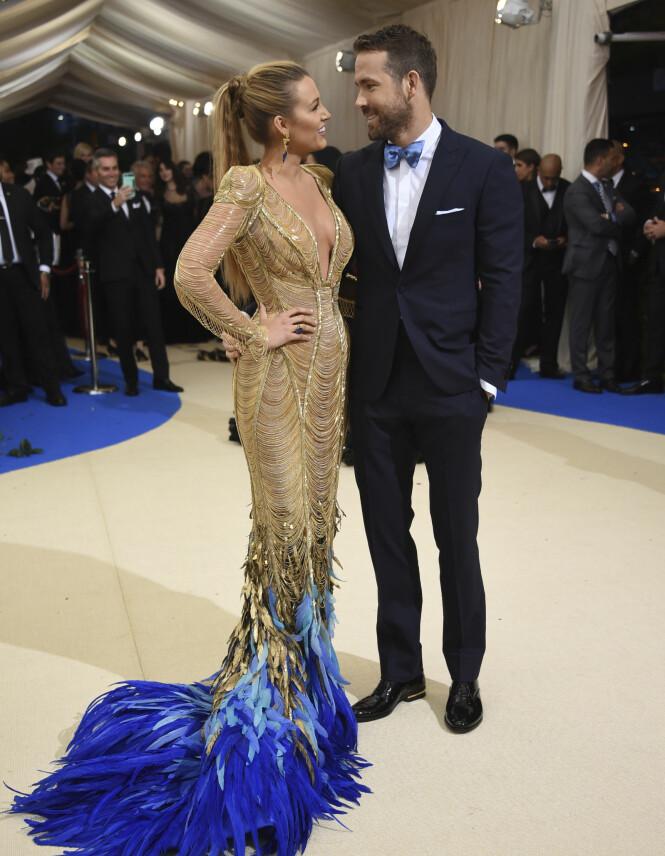 GIFT: Ryan Reynolds og Blake Lively har vært gift siden 2012. Her under Met-gallaen i 2017. Foto: NTB Scanpix