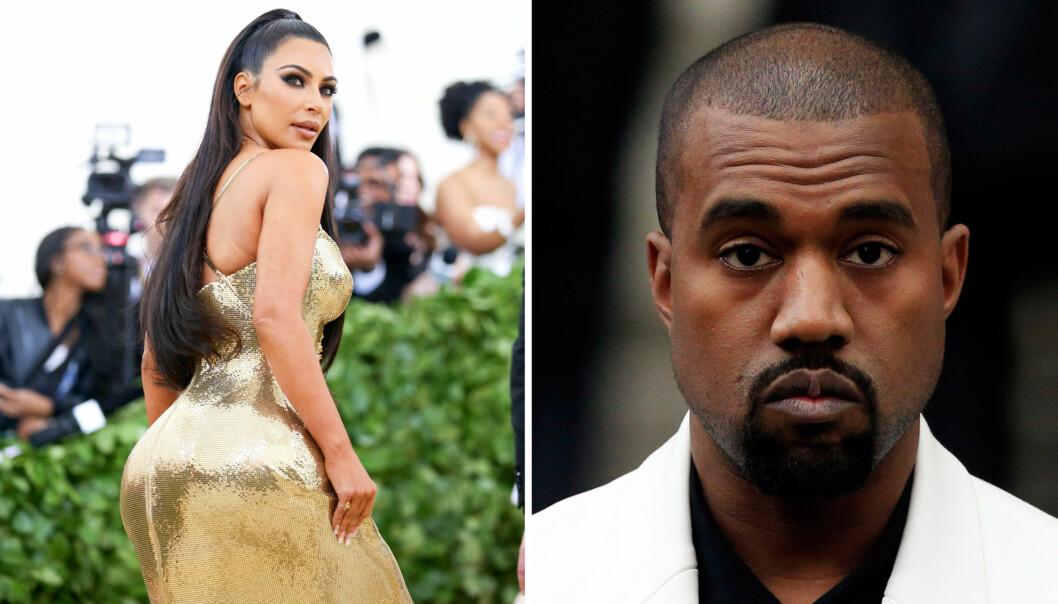 KOM ALENE: Kim Kardashian dukket opp uten ektemannen Kanye West under Met-gallaen natt til tirsdag. Foto: NTB Scanpix
