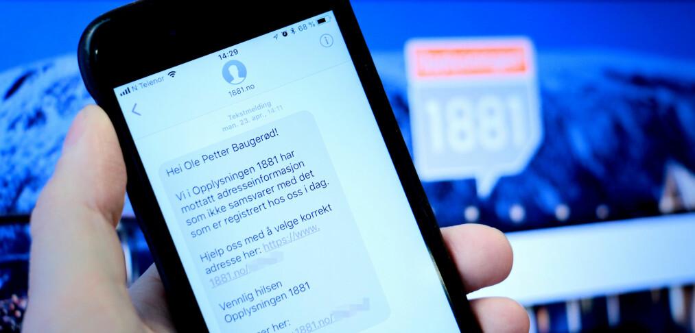 1881 har sendt over 243.000 meldinger