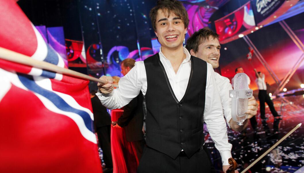 DEN GANG DA: Alexander Rybak vant finalen i Eurovision Song Contest i Moskva i 2009, med rekordhøye 387 poeng. Nå er han nok en gang klar for Eurovision-finalen. Foto: Sara Johannessen / Scanpix