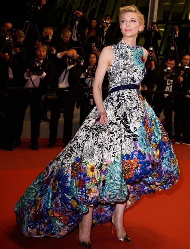 <strong>FARGERIK:</strong> Juryleder Cate Blanchett på «Cold War»-premieren i Cannes. Foto: JN Davidson/ SHM/ REX/Shutterstock/ NTB scanpix