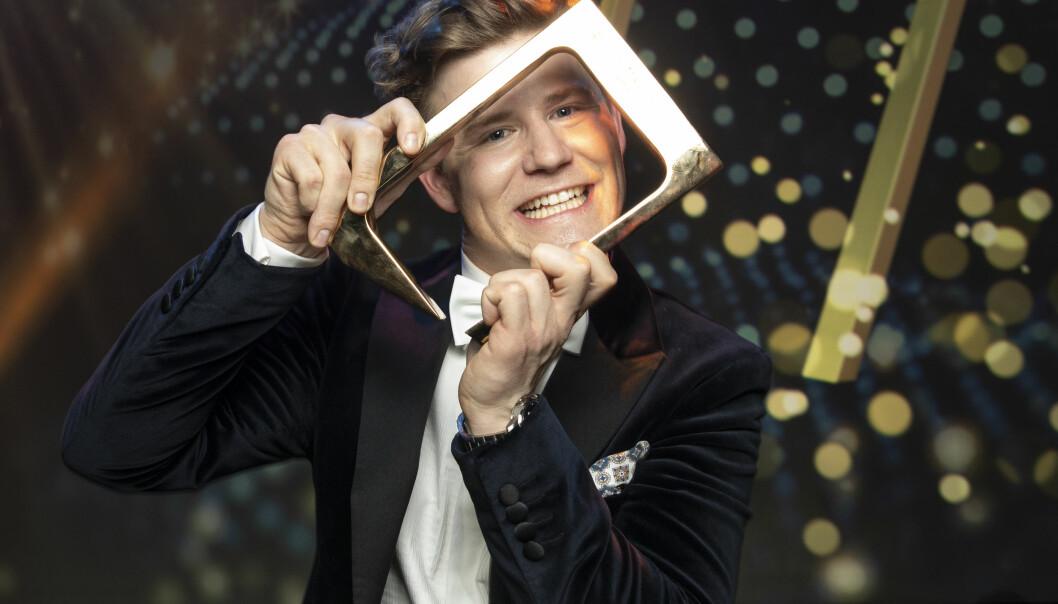 GULLGUTT: Nicolay fikk publikumsprisen under årets «Gullruten»-sending. Foto: NTB scanpix