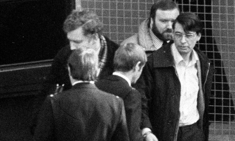 DØD: Den britiske seriemorderen Dennis Nilsen døde lørdag i fengselet der han sonet drapsdommene. Bildet er fra rettssaken i 1983. Foto: NTB Scanpix