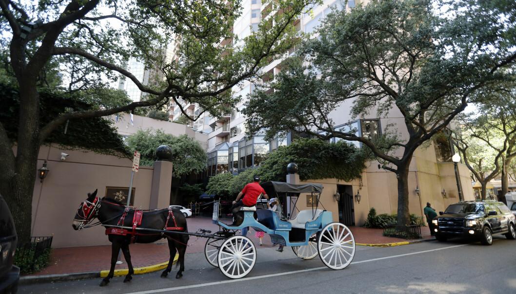 SVINDYRT: Det er hotellet Windsor Court Hotel i New Orleans som angivelig tilbyr den dyreste og mest eksklusive hotellpakken for å markere prinsebryllupet. Foto: NTB scanpix