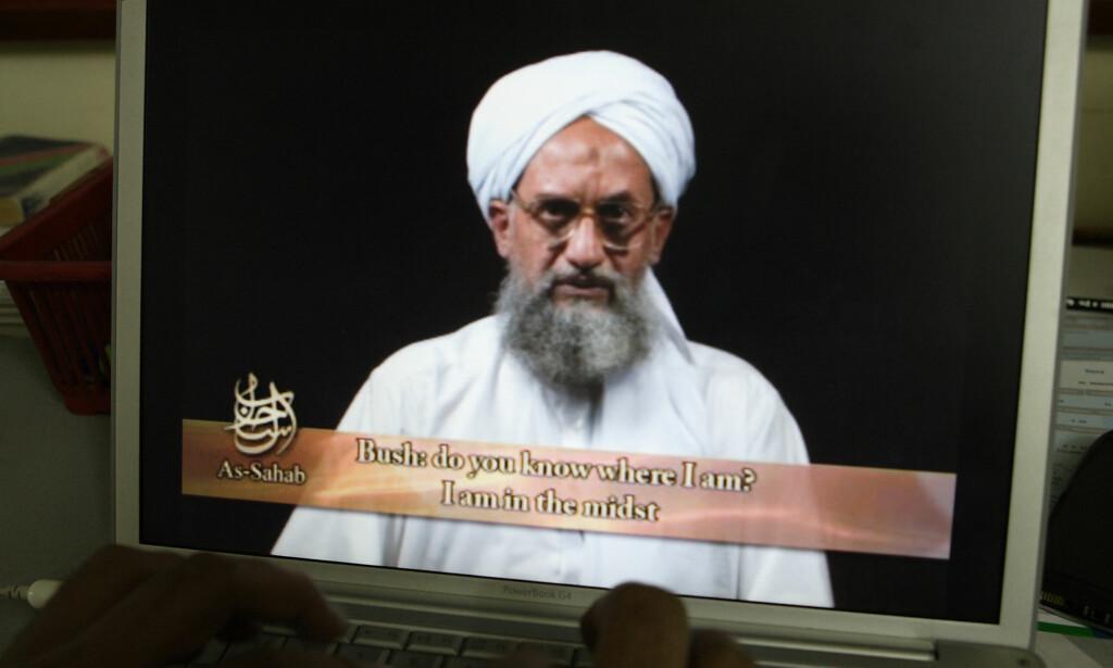 ADVARER: Al-Qaida-leder Ayman al-Zawahari ber sine tilhengere angripe USA på grunn av dagens ambassadeflytting. Bildet er fra 2006. Foto: NTB / Scanpix