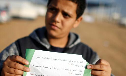 image: Advarer palestinerne: - Redd dere selv!