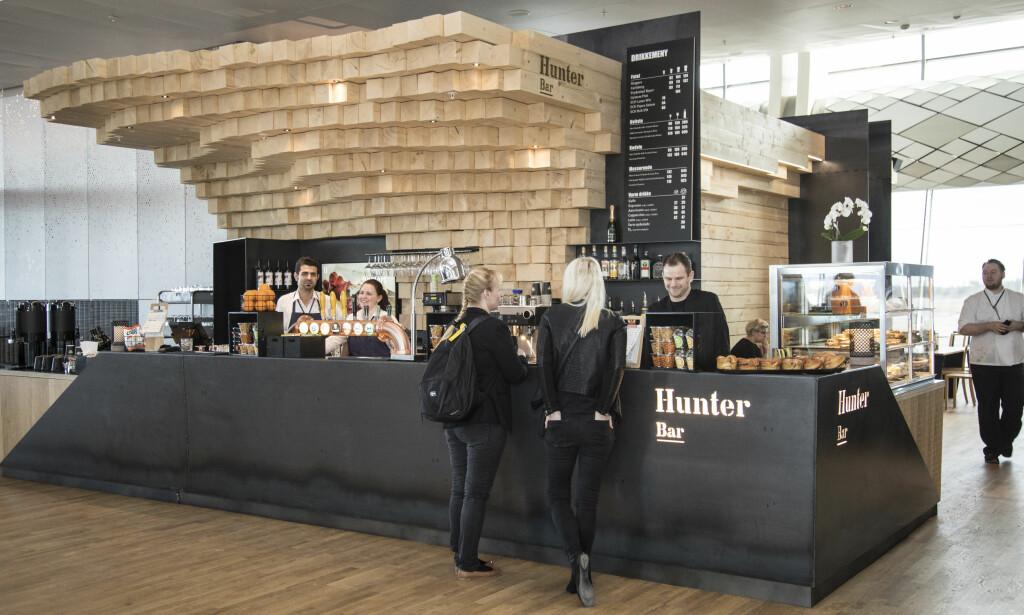 HUNTER BAR: Lokal profil på maten og lekkert design av Snøhetta.