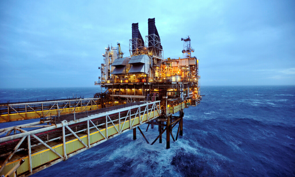 ØKER: Prisen på nordsjøolje har nådd 80 dollar fatet for første gang siden 2014. Bildet viser deler av en av BPs plattformer i Nordsjøen. Foto: Andy Buchanan / Reuters / NTB Scanpix