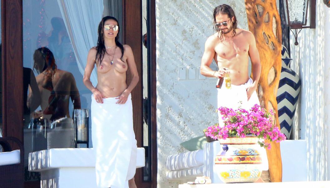 <strong>AVSLAPPET DUO:</strong> Kjæresteparet Heidi Klum og Tom Kaulitz brydde seg ikke om paparazzifotografenes kameralinser da de ferierte sammen forrige måned. Foto: NTB Scanpix