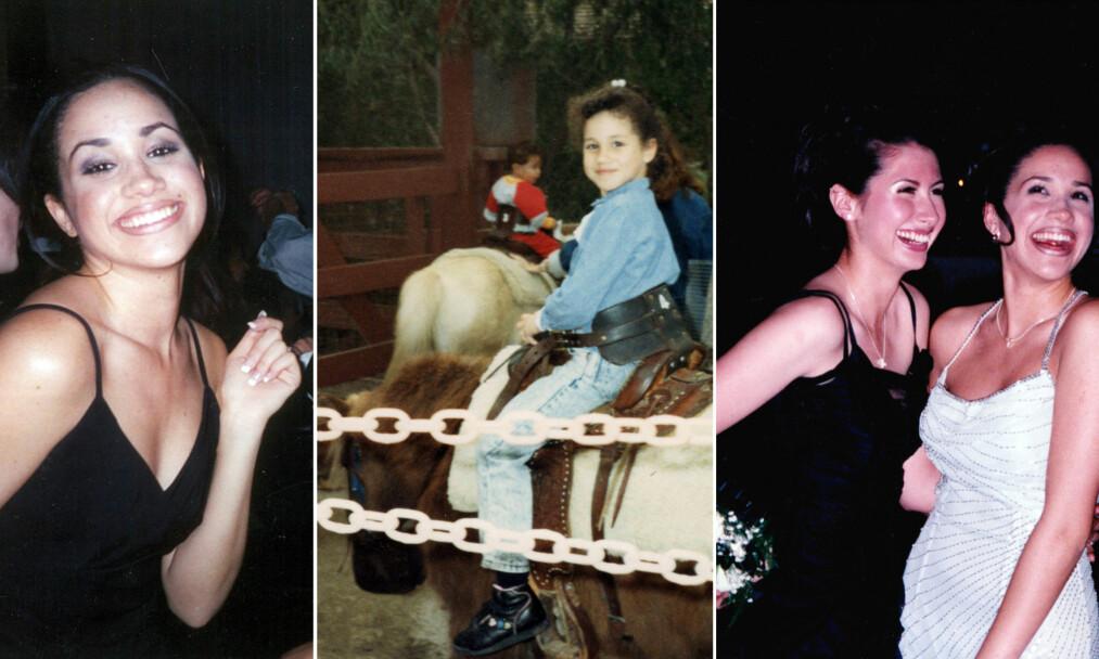 MEGHANS FORTID: Den siste tiden har en rekke private bilder fra Meghan Markles barndom og ungdomstid kommet frem i media. De gir et annet inntrykk enn den polerte fasaden hun har vist ved prins Harrys side. Foto: Splash News/ NTB scanpix