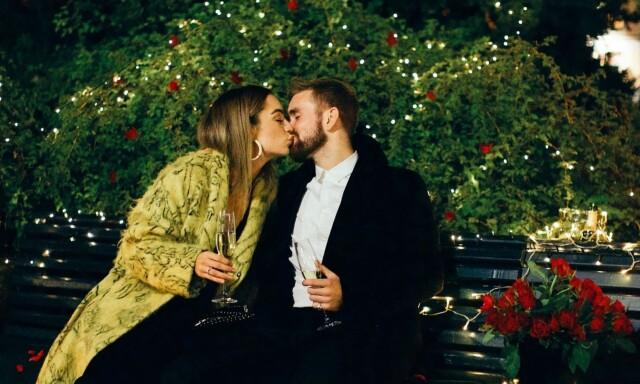 ba6ffbac ROMANTISK: Stian Blipp fikk ja fra sin mangeårige kjæreste Jamina Iversen i  oktober ifjor.