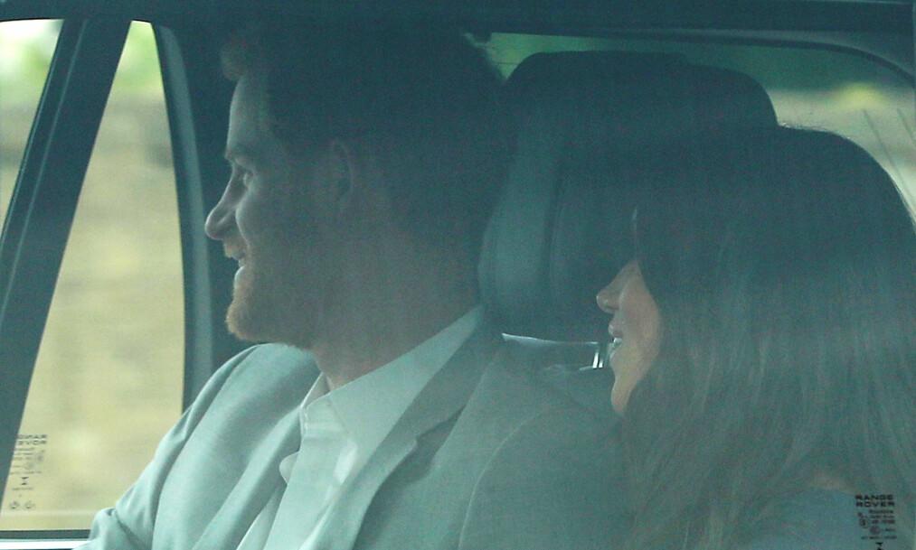 TIMER FØR: Straks blir prins Harry og Meghan Markle separert på hvert sitt hotellrom før bryllupet i morgen. Men først skal de drikke te med dronningen. Foto: NTB Scanpix