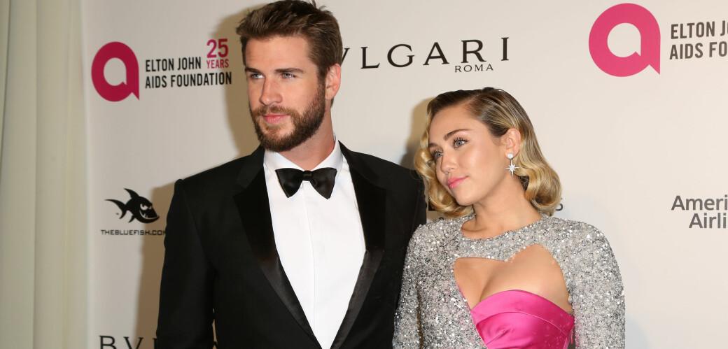 KJENDISPAR: For Liam og Miley var det kjærlighet ved første blikk. FOTO: Scanpix