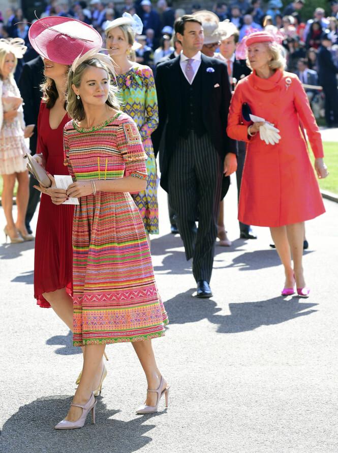 GJEST: Like etter at Chelsy Davy ankom, dukket prins Harrys andre ekskjæreste opp, Cressida Bonas. Hun var sammen med prinsen i en periode på to år. Foto: NTB Scanpix