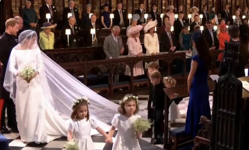 KJOLEN: Meghan Markles kjole er designet av den anerkjente britiske designeren Clare Waight Keller.