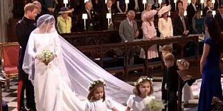 image: Her viser Meghan Markle fram brudekjolen