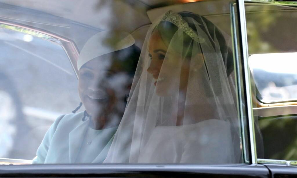 TIARA: Meghan Markle har fått låne sin tiara av dronning Elizabeth. Foto: NTB Scanpix