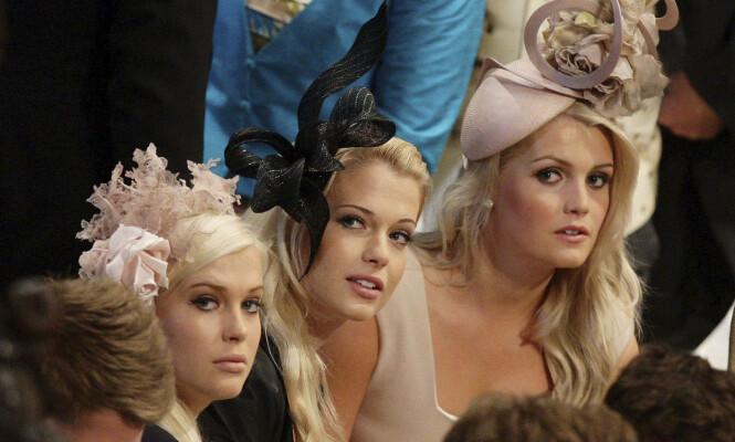 KJENTE SØSTRE: I bryllupet til William og Kate i 2011, ble tre av Spencer-søstrene fotografert sammen i Westminster Abbey. Foto: NTB scanpix
