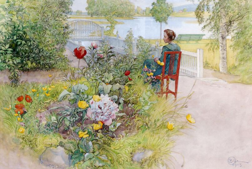 VAKKERT: Se hvor kunstneren Carl Larsson bodde og opplev hagen som inspirerte ham. Foto: Carl Larsson-gården