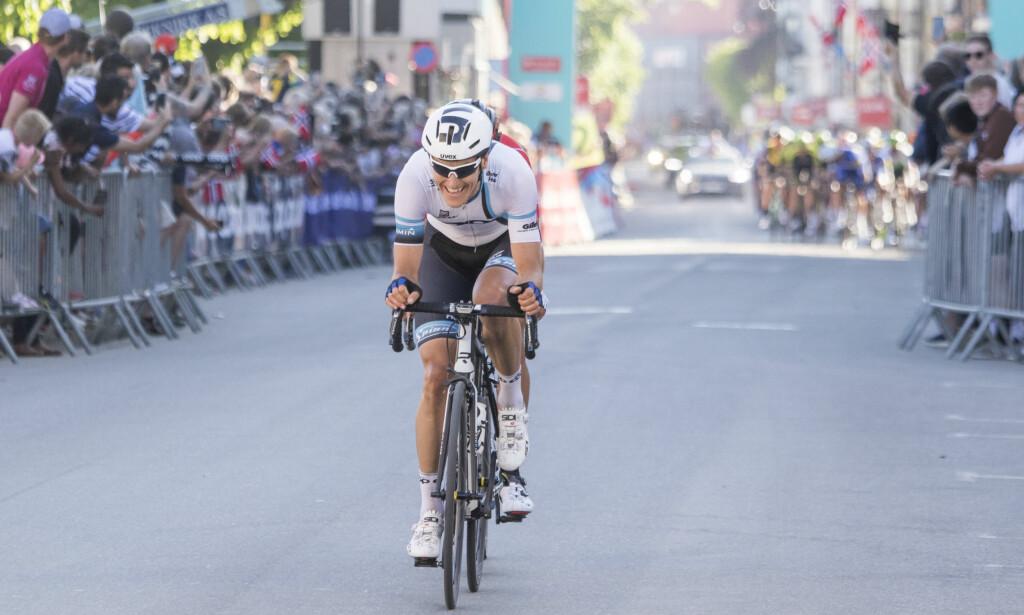 ANGREP: Krister Hagen ledet ut på den siste runden. Foto: Tor Erik Schrøder / NTB scanpix