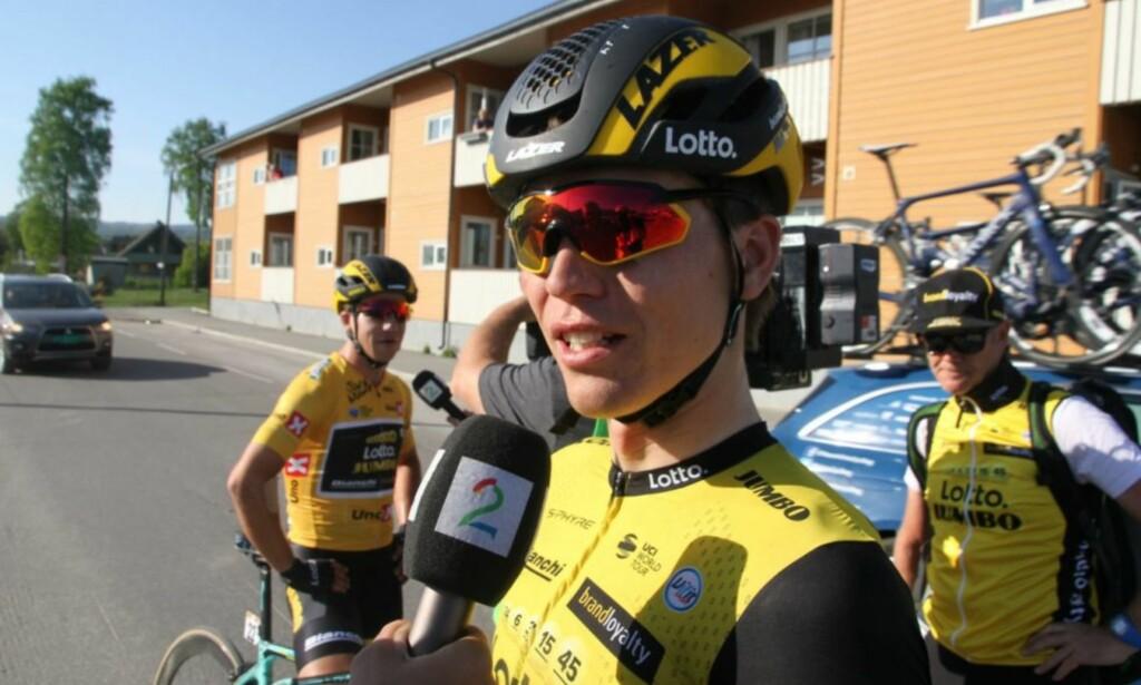 KRITISERER LØYPA: Amund Grøndahl Jansen var ikke imponert over finalen rittarrangørene lagde i Egersund. FOTO: Jarle Fredagsvik