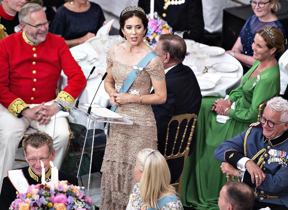 KRONPRINSESSE MARY: Den danske kronprinsessen holdt en svært nær og personlig tale under feiringen av ektemannen kronprins Frederiks 50-årsdag i slutten av mai. Den er blitt en snakkis på sosiale medier og i dansk presse. FOTO: NTB Scanpix