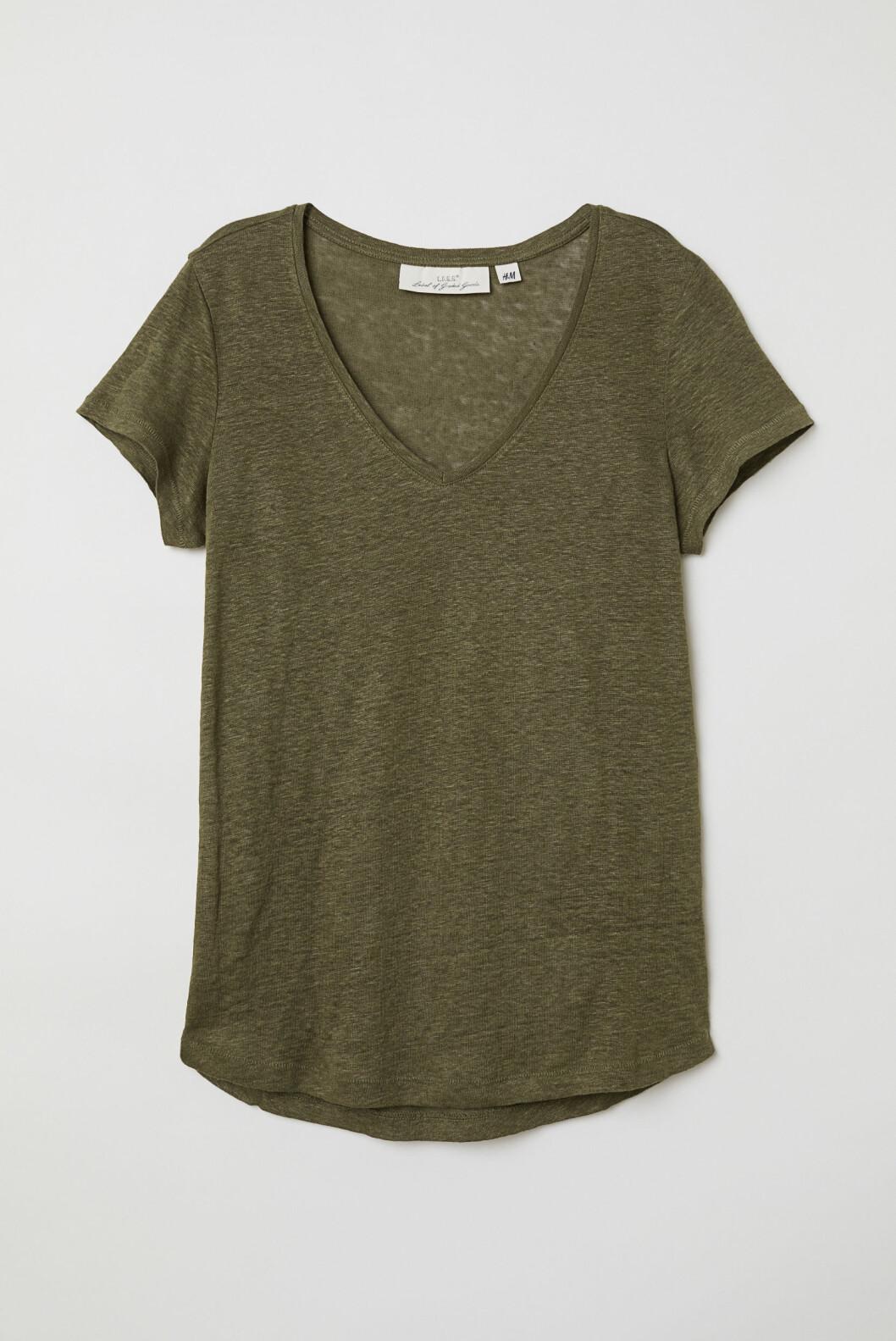 T-skjorte i lin fra H&M, kr 150.